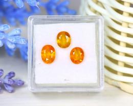 Sapphire 3.02Ct 3Pcs Oval Cut Natural Thailand Yellow Color Sapphire SB958