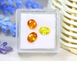Sapphire 3.15Ct 3Pcs Oval Cut Natural Thailand Yellow Color Sapphire SB961