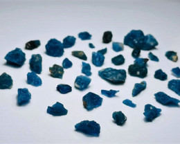 Amazing Natural blue color gemmy quality fluorescent  Afghanite rough lot 8