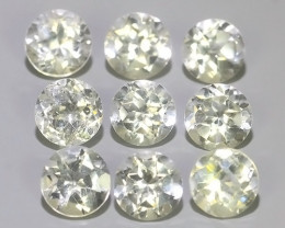 5.50 CTS TOP DAZZLING NATURAL ULTRA 4.85 MM ROUND  WHITE TOPAZ EXCELLENT!!