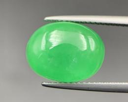 7.65 Cts Green Burmese Type-B Jadeite Cabochon. Jd-52820