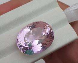 Certified ~NO RESERVE~31.62 Carats Natural Kunzite Nice Cut Gemstone