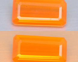 0.92 Cts  Very Rare Unheated Mexican Fire Opal Loose Gemstones
