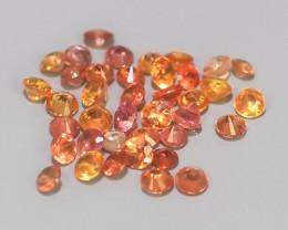 0.65 Excellent Natural Intense Beautiful Orange red Sapphire Round!!