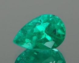 Columbian  Pear Cut Emerald 1.11Ct.