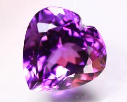 11.25ct Natural Purple Amethyst Heart Cut Lot B3003