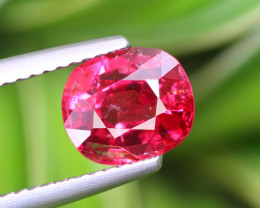 1.970 CT SPINEL PINKISH RED 100% NATURAL UNHEATED BURMESE