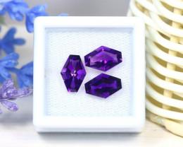 Amethyst 4.47Ct 3Pcs Fancy Cut Natural Uruguay Violet Amethyst SC366