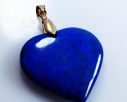 52.25 CTs Natural & Unheated~Blue Lapis Lazuli Heart Pendant