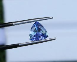 1.81 CTs Natural & Unheated~ IGI Certified Purple Blue Tanzanite Gemstone