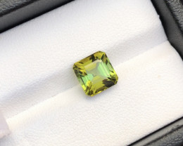 Asscher Cut 2.70 ct Precious Tourmaline Ring Size~RS