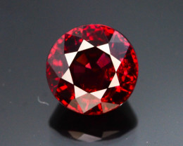 Burma Origin 1.15 Ct Rare Red Spinel ~ Round Brilliant Cut