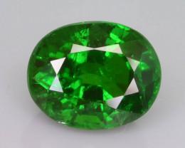 Intense Green 1.70 ct  Tsavorite Garnet Mirelini Hill Tanzania Mined  SKu-1
