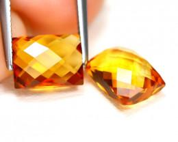 Madeira Citrine 3.24Ct VS Fancy Cut Natural Orange Citrine SC534