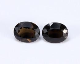 5.07ct Natural Smokey Quartz Earrings