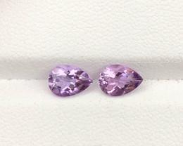 Natural Beautiful Amethyst Pair 1.21 CTS Gems
