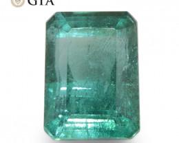 3.8ct Octagonal/Emerald Cut Green Emerald GIA Certified Zambia