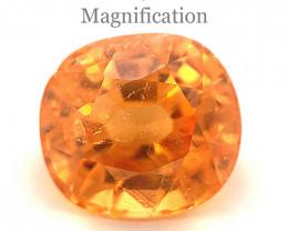 3.65ct Cushion Vivid Fanta Orange Spessartine Garnet GIA Certified