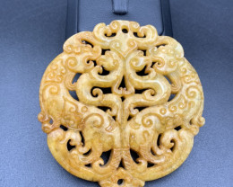 232.20 Cts Excellent Hand Carving Jade.