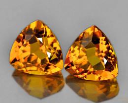7.00 mm Trillion 2 pcs 2.02cts Golden Orange Citrine [VVS]