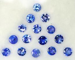 2.01 Ct Natural Purple Blue Tanzanite Round 2.8-3.0mm Calibrated