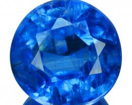 1.35 Cts Natural Royal Blue Kyanite 6.0mm Round Cut Nepal