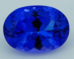 3.26 CT 11X8 MM Royal Blue Top Quality Natural Tanzanite T2-36