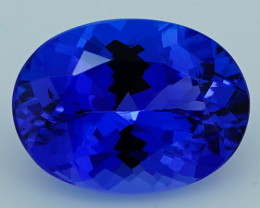 3.45 CT $1500 11X8 MM Royal Blue Top Quality Natural Tanzanite T2-40
