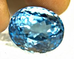 24.35 Carat Vibrant Blue Brazil VVS Topaz - Gorgeous