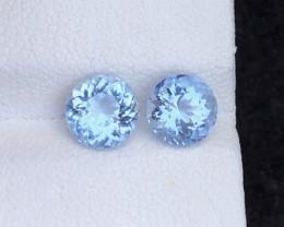 Santa Maria Color Perfect Pair 2.15 Ct Natural Aquamarine gemstone