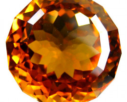 3.32Cts Genuine  Natural Citrine Round Custom Cut Loose Gemstone