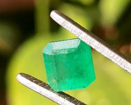Polished Natural Brazilian emerald – 1.10 ct ( Emerald Cut)
