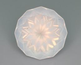 Rare Peach Pink 25.20 ct Feldspar Moonstone~Flower Cut