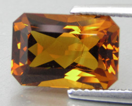 4.60Cts Excellent Natural Madeira Citrine Radiant Cut Loose Gemstone