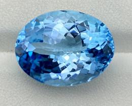 Natural Sky Blue Topaz 17.90 Cts Good Luster