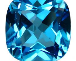 2.50Cts Srunning Natural Swiss Blue Topaz Master Cushion  Cut Loose Gem