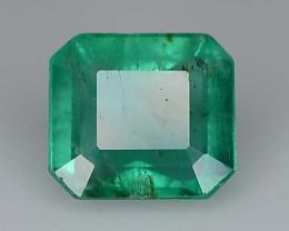 1.20 ct Octagon Cut Natural Zambian Emerald