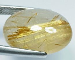 15.38 Ct Top Quality Oval Cut Natural Golden Rutile Quartz