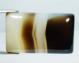 52.44 ct Natural Black Lace Agate Rectangular Cabochon  Gemstone