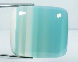 42.16 ct Natural Blue Lace Agate Rectangular Cabochon  Gemstone