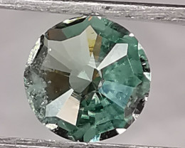 Tourmaline, 1.235ct, stunning colour cut by myself to make so happy!