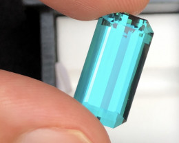 Top Quality 12.00 Carat Open Blue Color Tourmaline From Afghanistan.