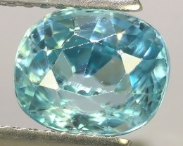 2.80 CTS AWESOME SPARKLE NATURAL RARE BEST BLUE ZIRCON~EXCELLENT!