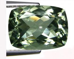 7.33Cts Stunning Natural Green Amethyst (prasiolite) Cushion Cut Loos Gem