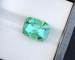 Superb Quality 6.80 Ct Lagoon Green Tourmaline From Afghanistan