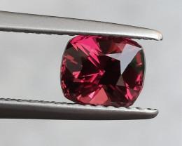 HGTL Certified 1.47 Carats Natural Rhodolite Garnet Nice Cut Gemstone