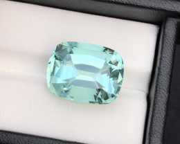 Gorgeous Color 19.20 Ct Pure Seafoam Tourmaline From Afghanistan