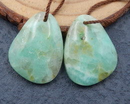 D2623 - 24cts  Natural Chrysocolla Earring Bead,High Quality Gemstone Earri
