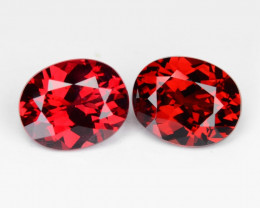 0.85 Cts  2 Pcs Un Heated Top Red Color Natural BURMA SPINEL Loose G