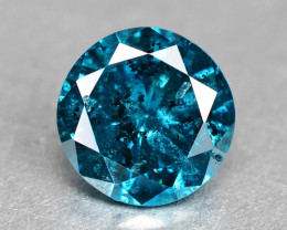 Diamond 0.15 Cts Sparkling Natural Fancy  Vivid Blue  Diamond